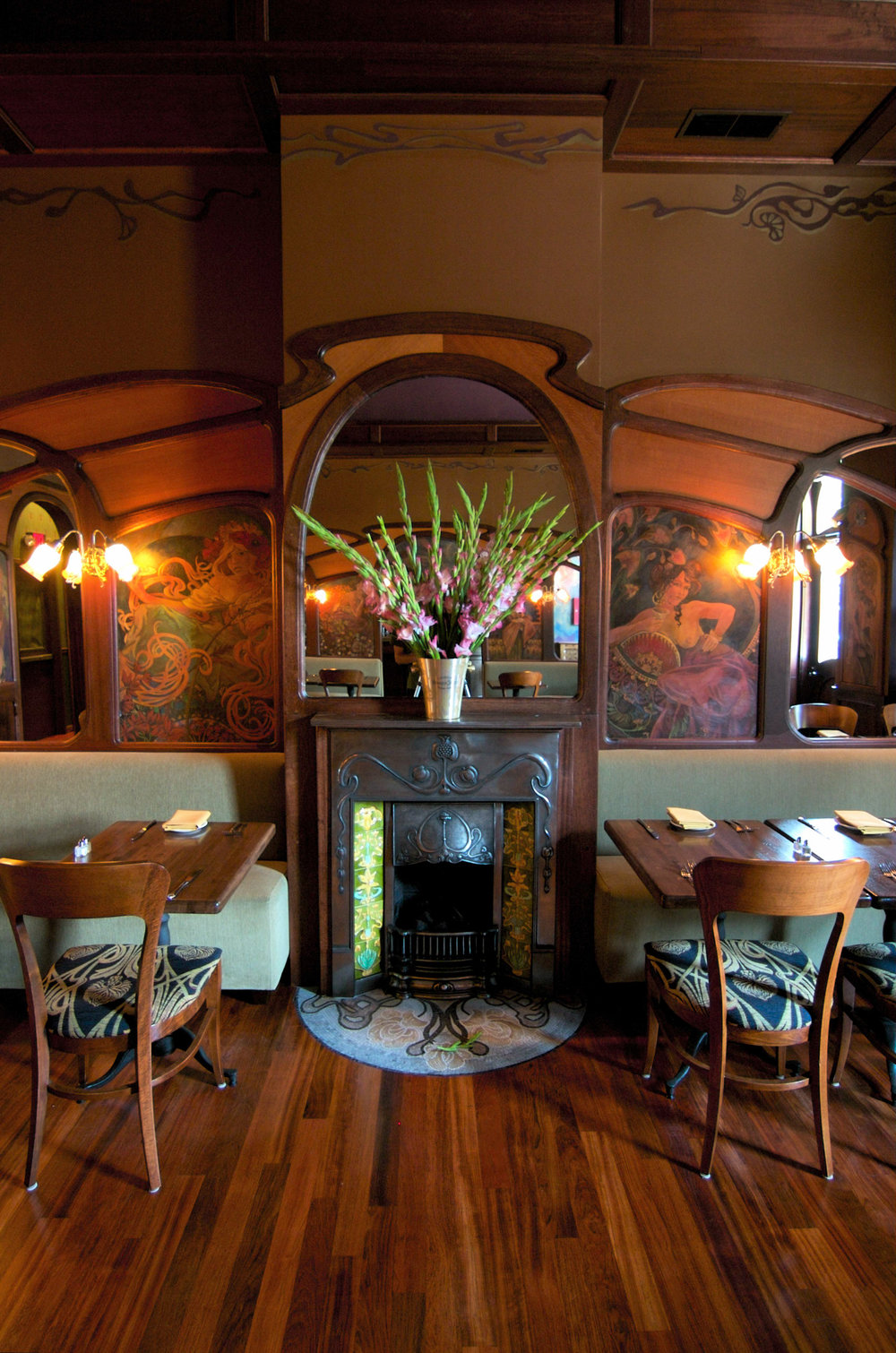 Art Nouveau Restaurant Interior Design Restaurant