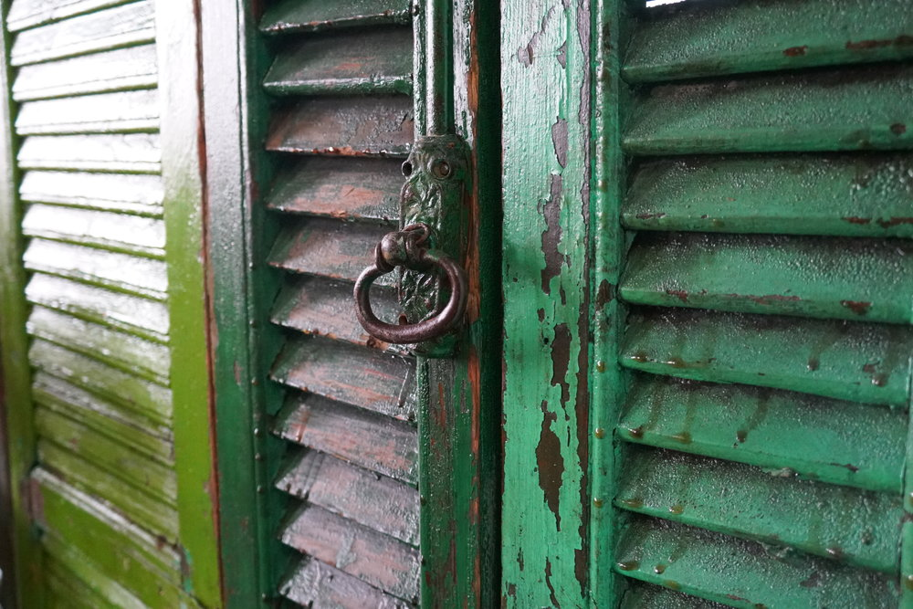 Weathered Green Shutters
