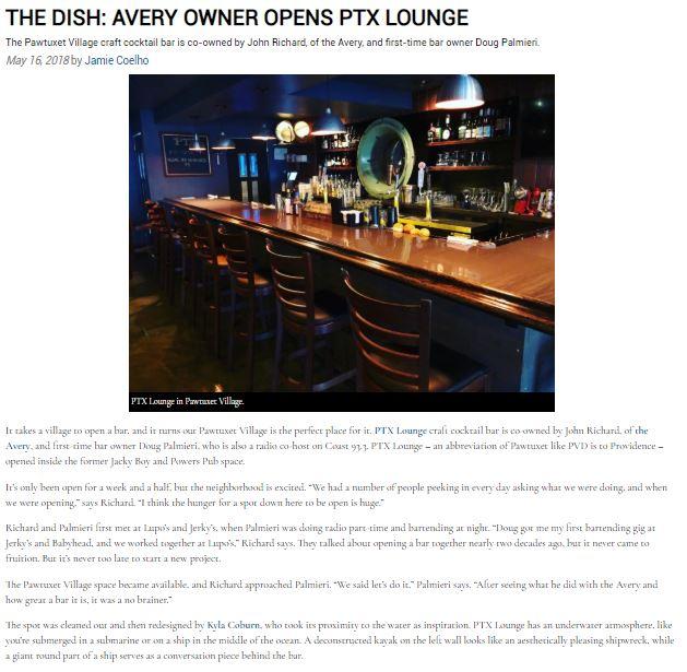 The Dish: PTX Lounge