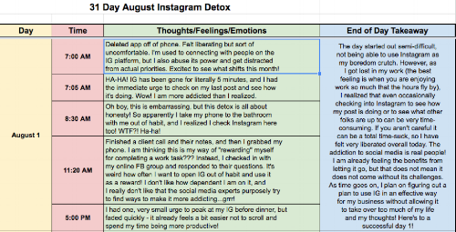 - See what happens when you take away an addict's Instagram account.