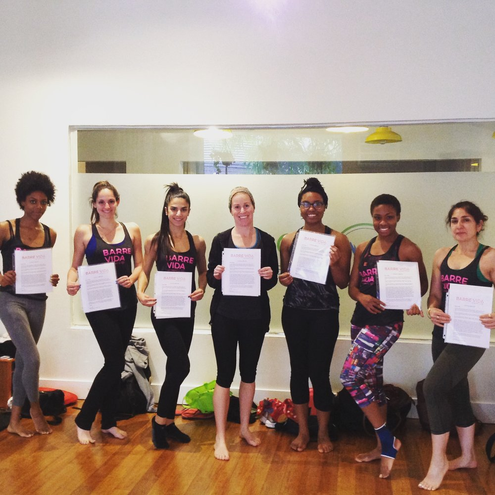 Our Last Group of Fabulous Instructors, Training was hosted at Loom Pilates in Brooklyn.