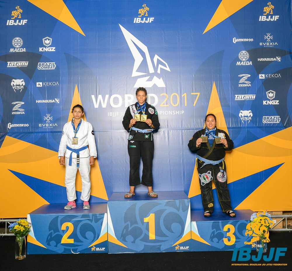 Sami Lima de Silva Galvao placed second in the Blue / Juvenile 2 / Female / Open Weight division