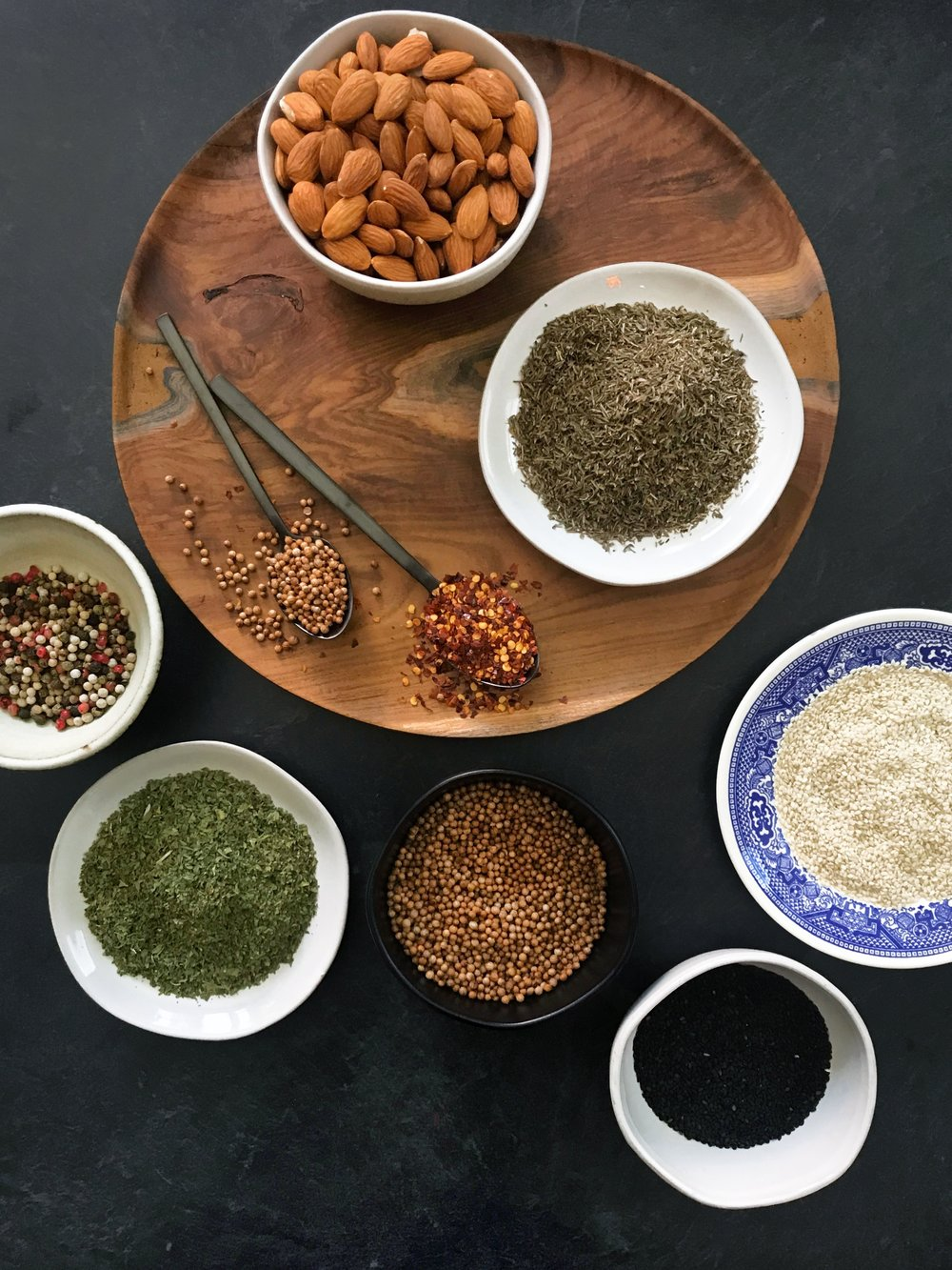 Egyptian Dukkah Ingredients