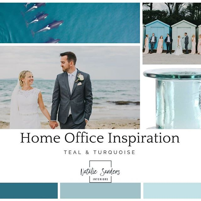 Getting pretty excited for work to start in a few weeks to create my home office! Finally getting round to putting together my ideas. Being inspired by the colours from our wedding, photos of my beloved killer whales and by a gorgeous turquoise  glass vase I already own but have never really found a home for. What do you think? Happy Friday all!  #nataliesandersinteriors #homeofficeinspo #homeoffice #coloursofnature #coastalstyle #weddingphotos #seainspired #interiorstyling #moodboards #inspiredbynature #happyfriday