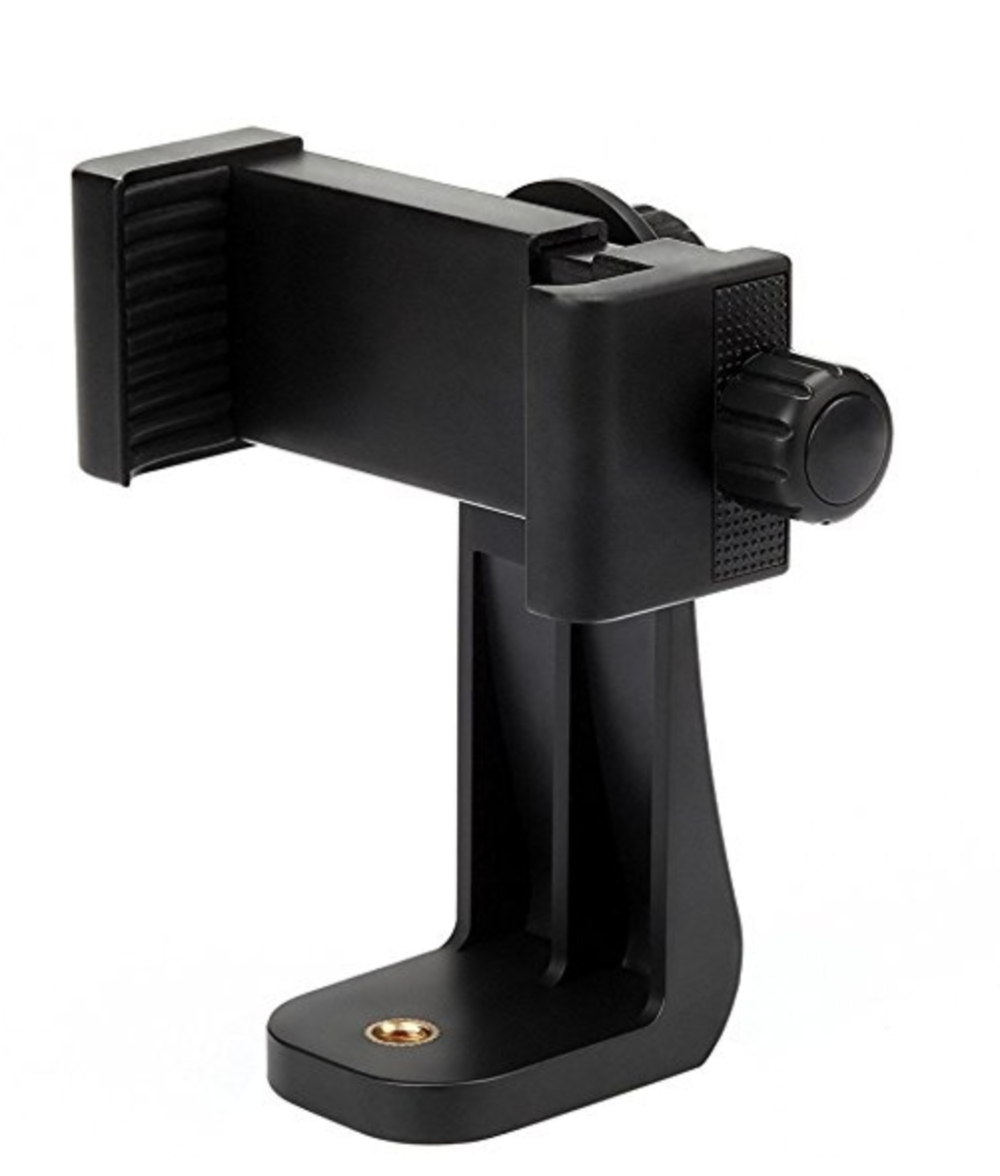 Universal Smartphone Tripod Adapter - It's less than $10 - just get it. You never know!
