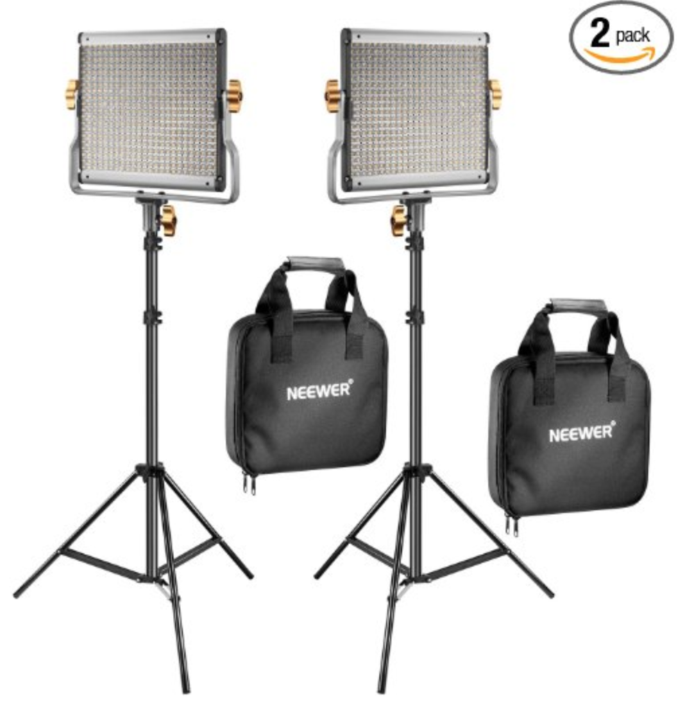 2-Pack Neewer LED Video Lights - They're a bit pricey but you'll have light for DAYYYSSSS