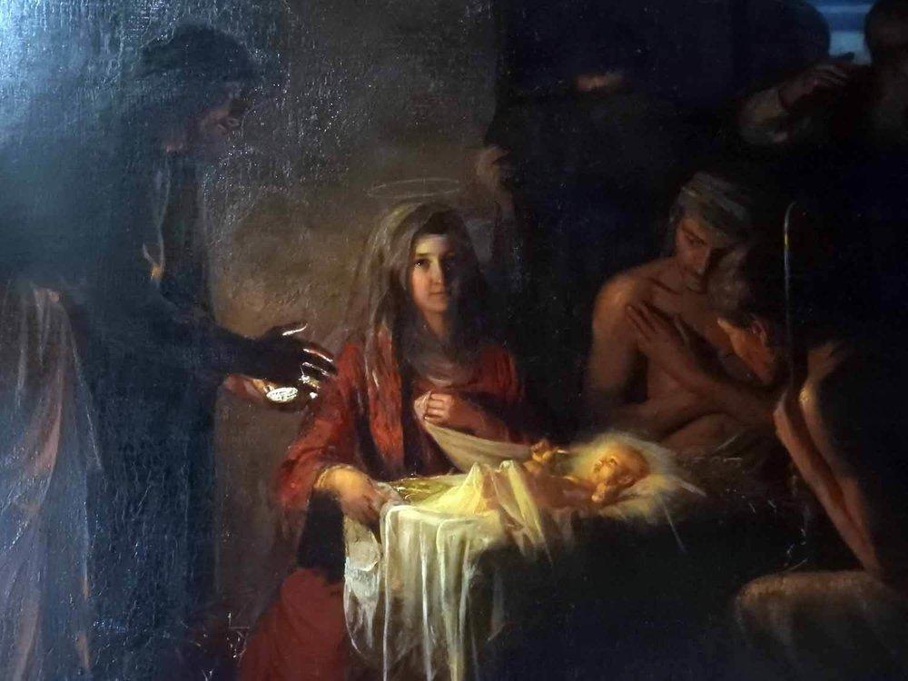 denmark-frederiksborg-slot-castle-chapel-kings-oratory-carl-bloch-painting-maria-virgin-child-christ-birth-jesus.JPG