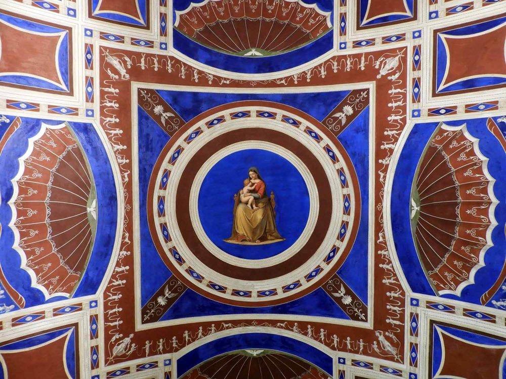 denmark-copenhagen-thorvaldsen-museum-ceiling-painting.JPG