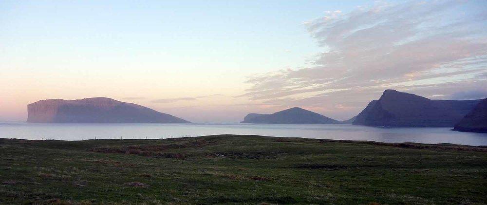 View of Fugloy & Svinoy Islands from Vidareidi.