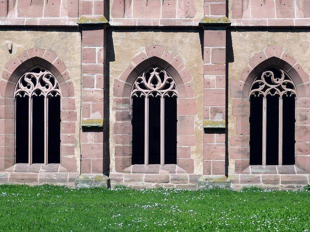 germany-alpirsbach-kloster-monestary -gothic-windows.JPG