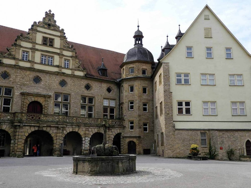 germany-Weikersheim-castle-gardens-schloss-town-square-well.jpg
