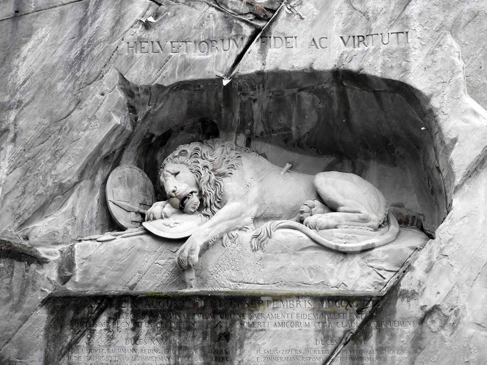 BONUS FUN FACT!  - Another sculpture designed by Bertel Thorvalden is the famous Lion Monument in Lucerne, Switzerland.