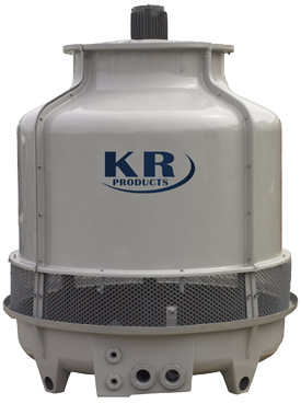 Lightweight and Compact - KR Products' Cooling Towers are available in models from 8 to 1,000 tons. Our round design permits maximum air intake regardless of wind direction