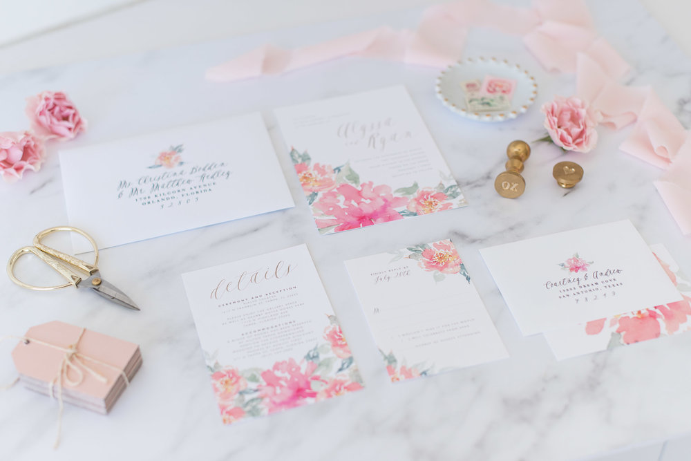 During our branded head shot shoot in April, we were able to snag a few images of her pretty stationery!