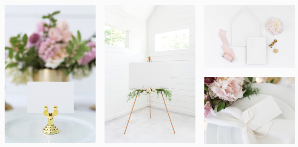Blush Wedding Bundle is perfect for wedding stationers who need mockups to display their designs!