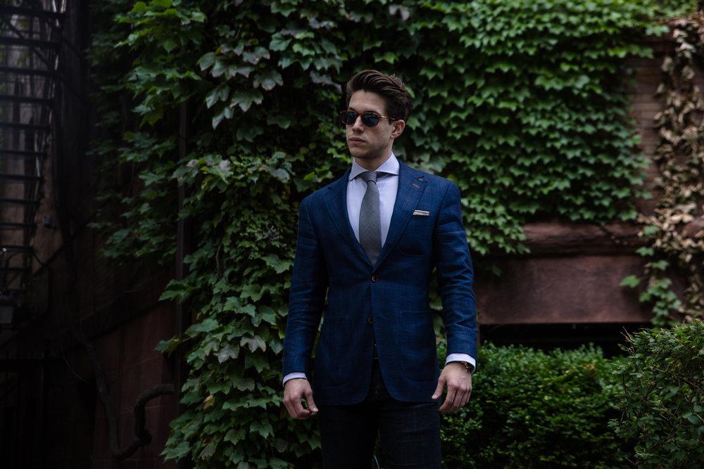 Daniel George custom blue sport coat