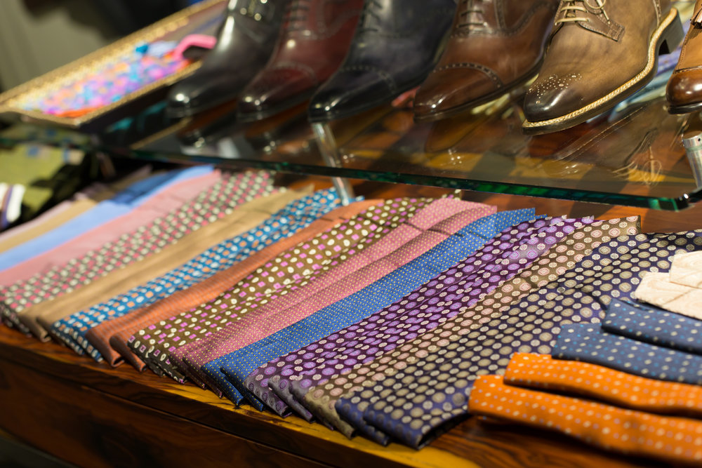 Italian silk tie accessories
