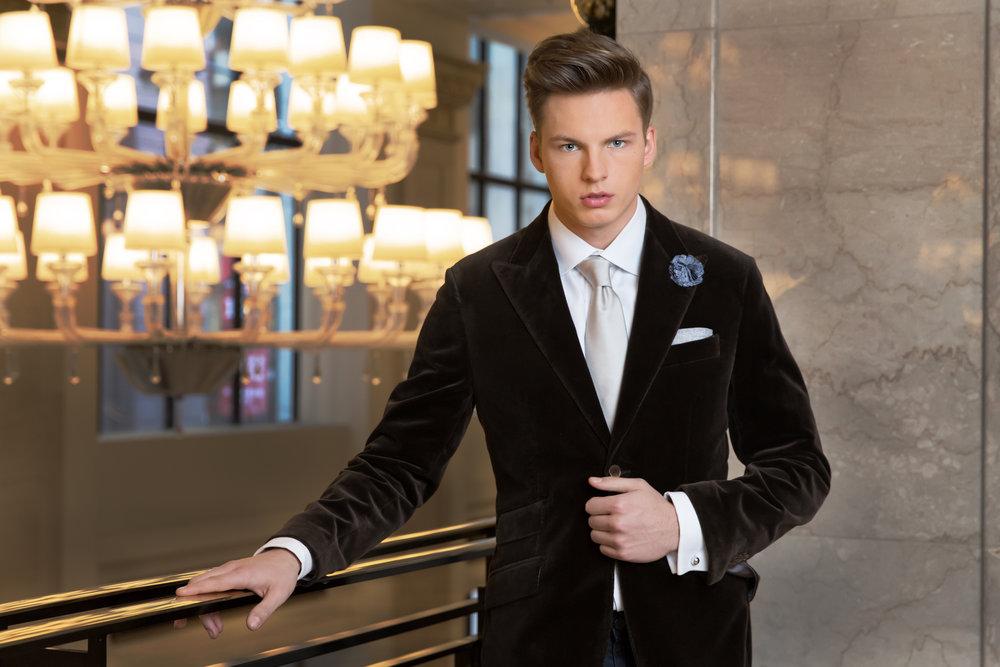 custom velvet blazer
