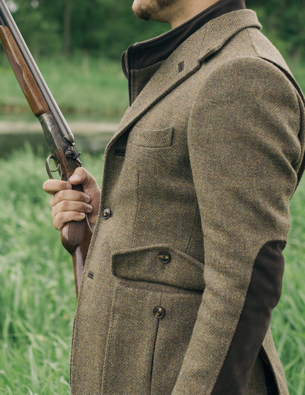 custom donegal tweed shooting jacket