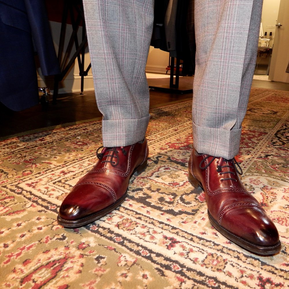 oxblood leather dress shoes chicago