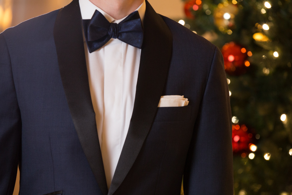custom midnight blue wedding tuxedo
