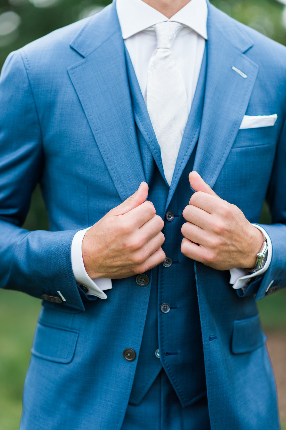 custom blue wedding suit chicago