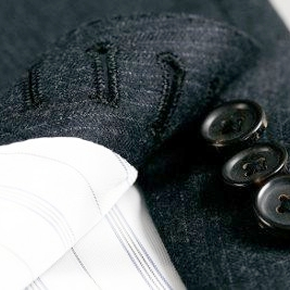 Buttonholes - Sewn completely by hand, our buttonholes represent the pinnacle of our craft and are recognized and appreciated by the true connoisseur.