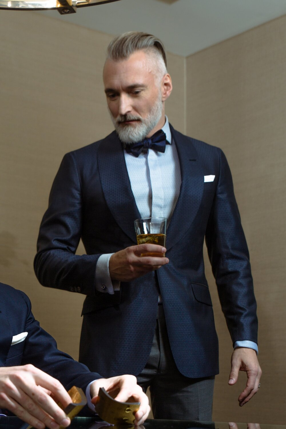 custom blue dinner jacket