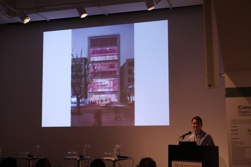 Hayes presenting Barbie Shanghai at the AIA