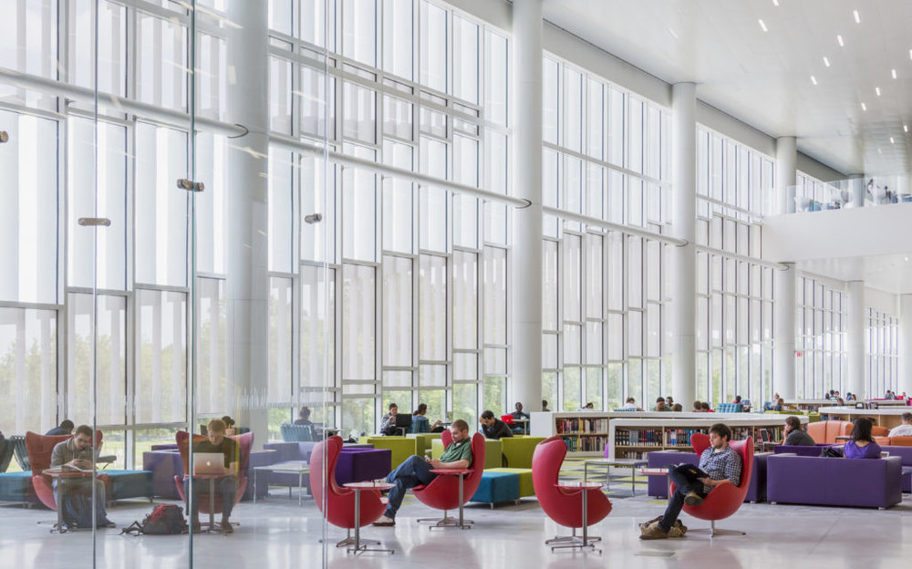 North Carolina State University, James B Hunt Jr Library,Courtesy of Snohetta