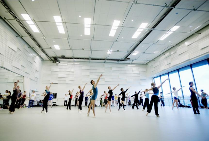 Dance rehearsal studios at the Oslo Opera House. Courtesy of Snohetta.