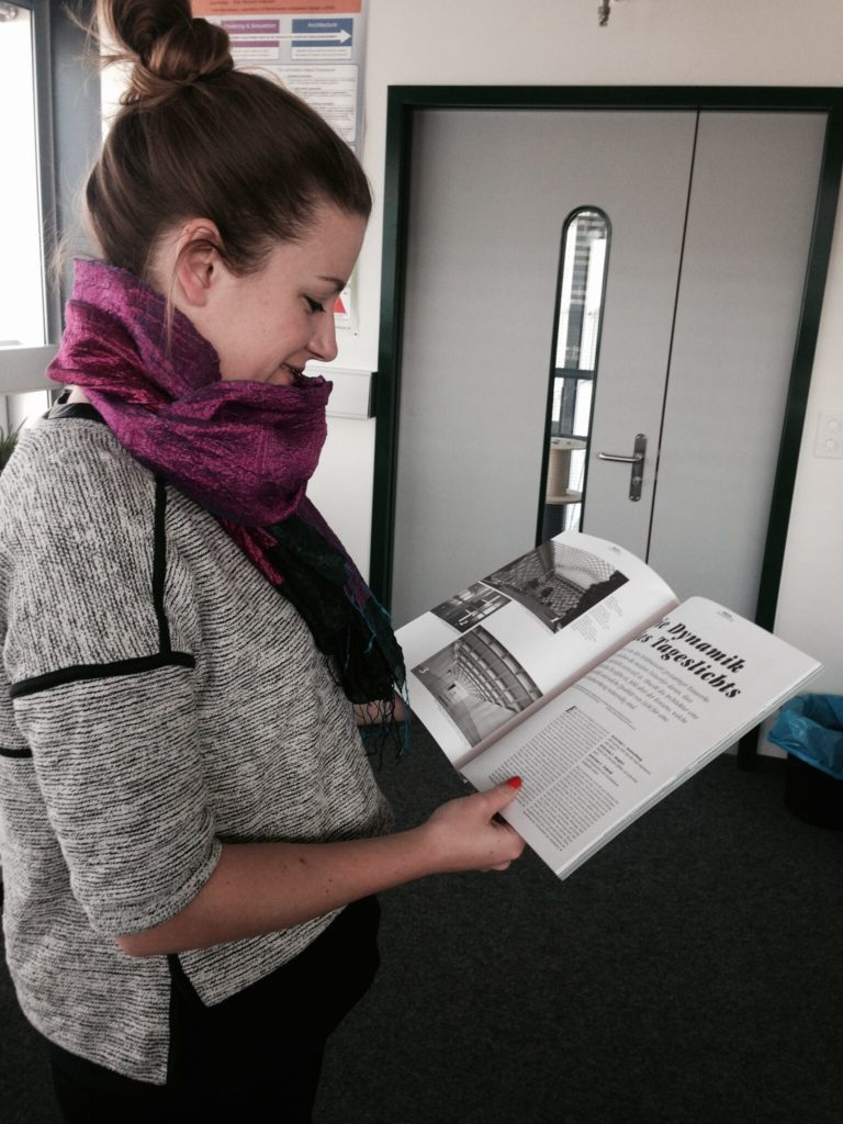 Shevy with a published article of hers.