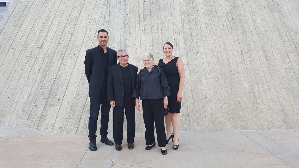 Carla with Michael Ashley and Daniel and Nina Libeskind at the National Holocaust Monument in Ottawa, Canada.
