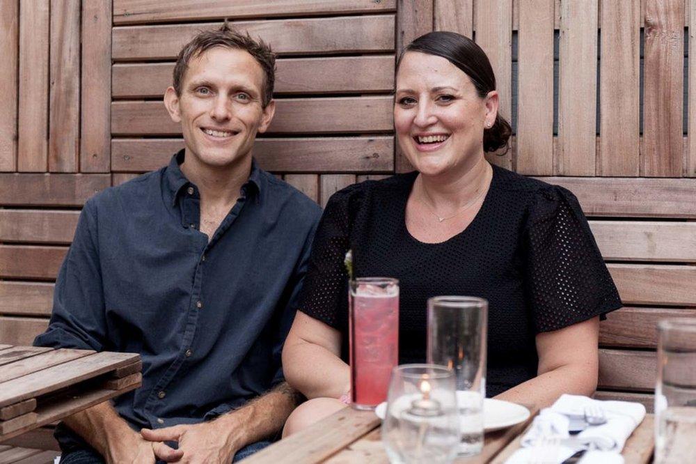 Carla and Dave in the Faun garden