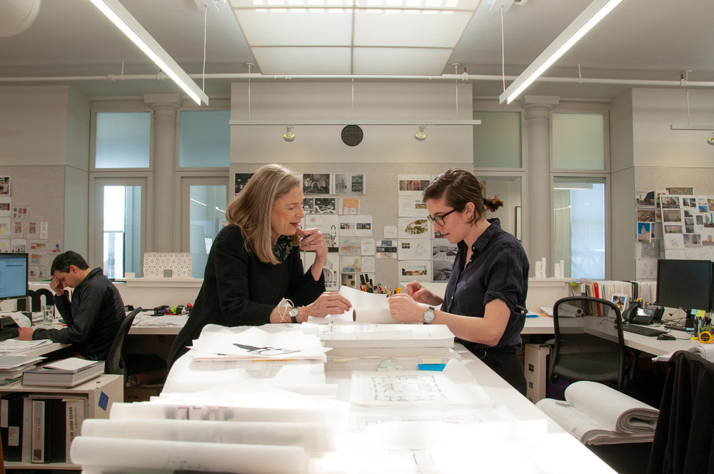 Sylvia with designer Cameron Ringness, courtesy of FXCollaborative