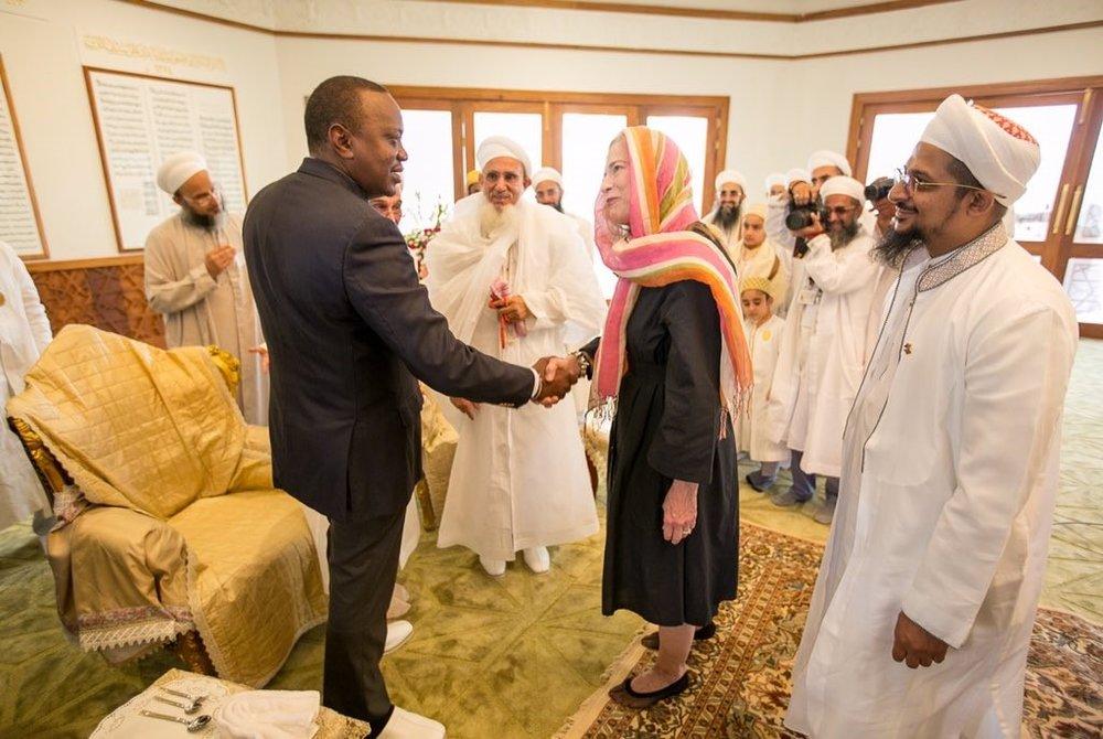 Sylvia with President Kenyatta of Kenya