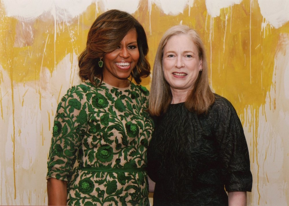 Sylvia with Michelle Obama