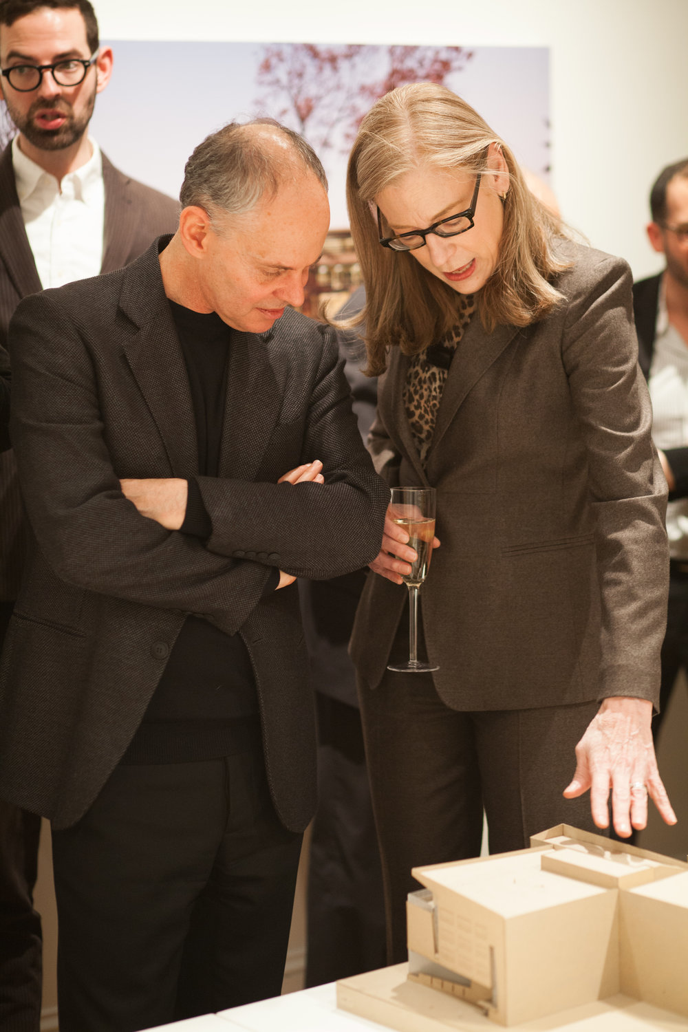 Sylvia with Dean Kent Kleinman for the launch of the firm's monograph at the National Gallery