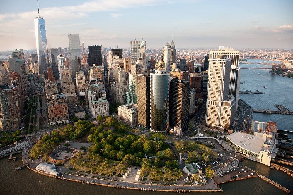Battery Park landscape, courtesy of CBRE