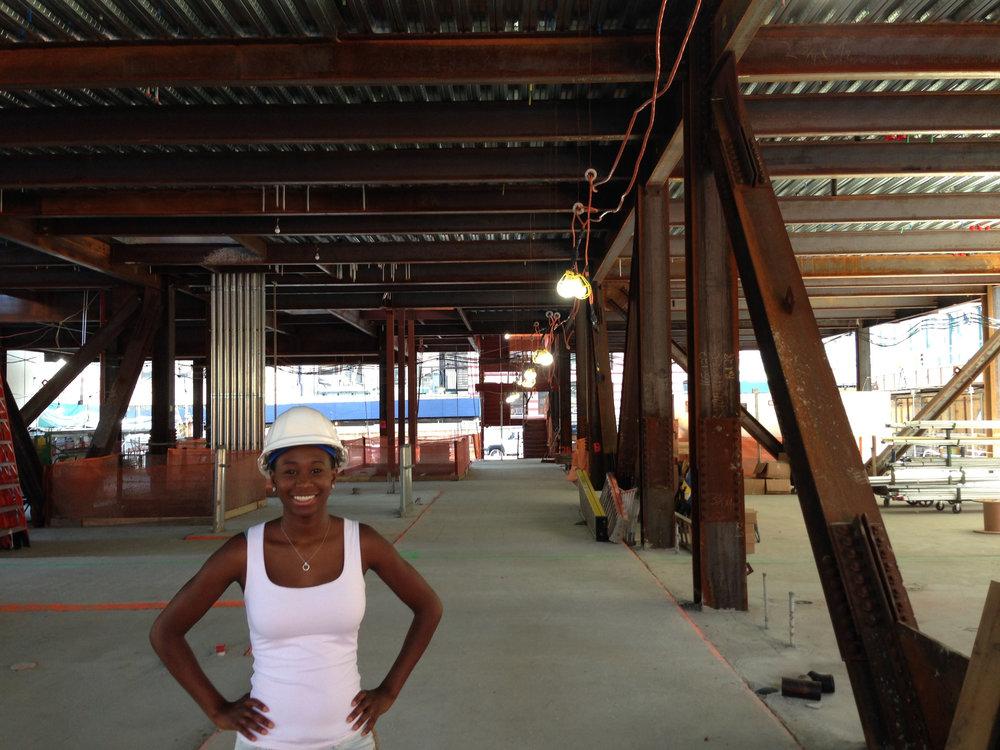 Samantha on site