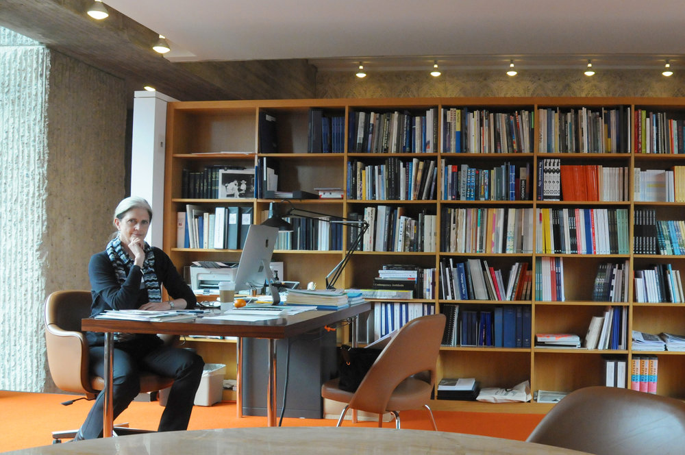 Deborah in the Dean's Office at the Yale School of Architecture.