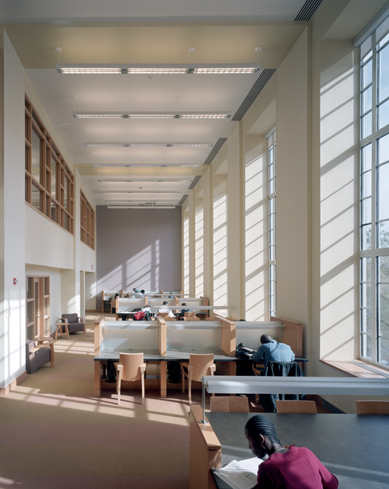 The Brooklyn College Library, photography by Peter Aaron