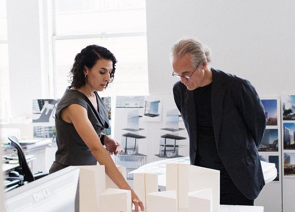 Hana Kassem with Bill Pederson