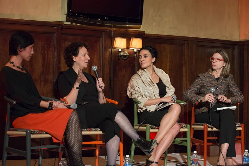 Panel at the architecture film festival with Cathleen McGuigan, Hana Kassem, Claire Weisz, and Mimi Hoang.