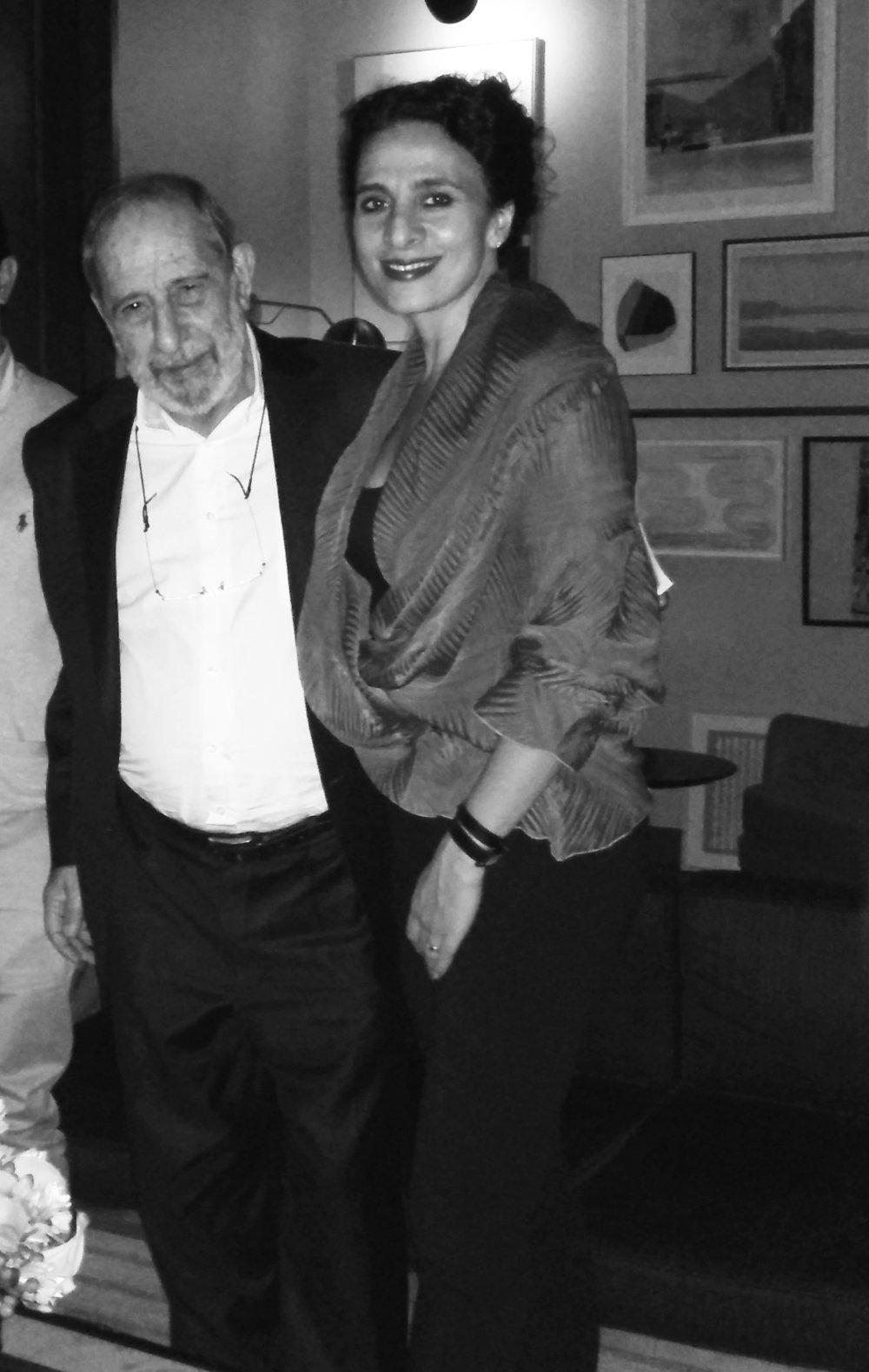 Hana with Alvaro Siza.
