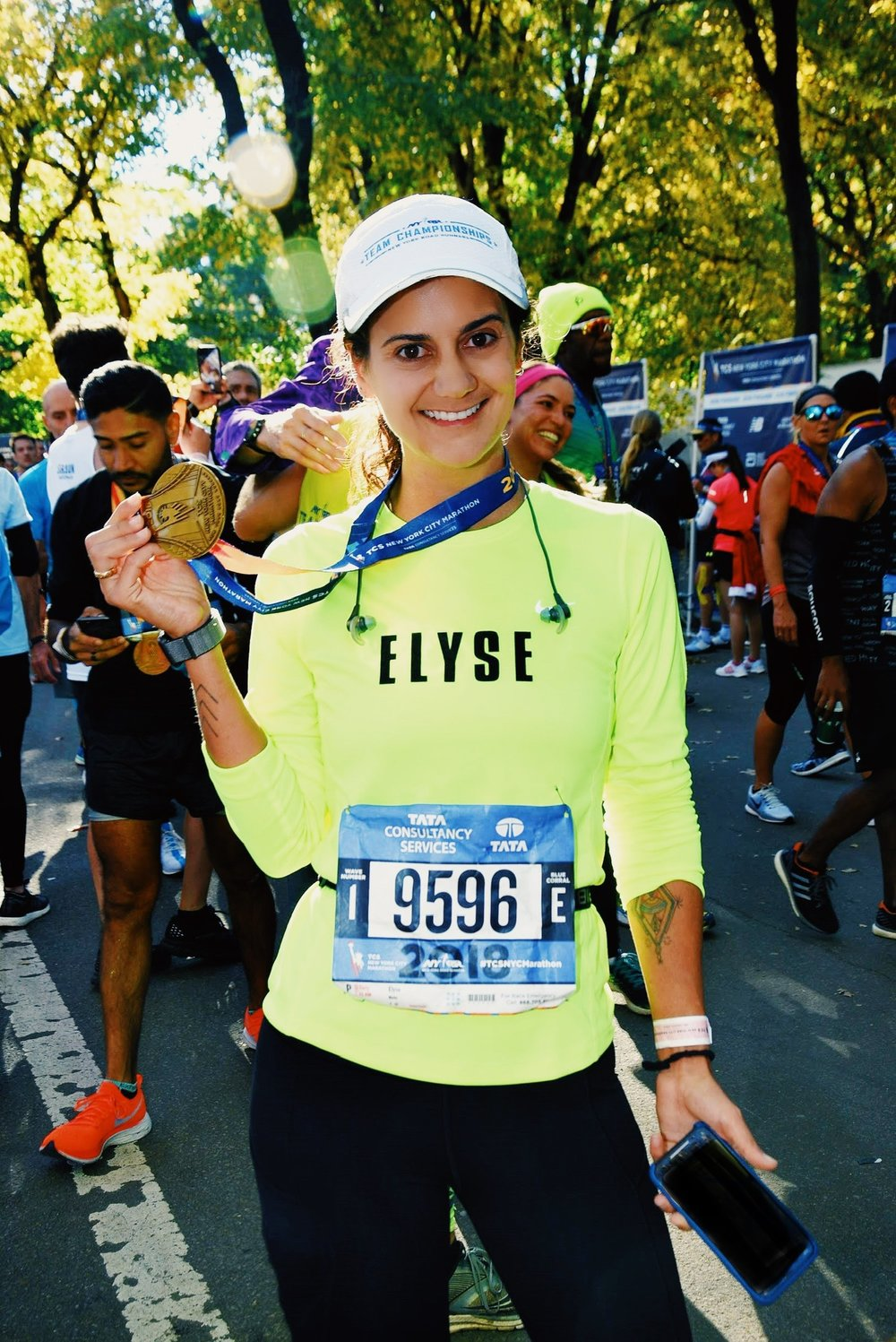 Speaking of being ready, Elyse at the finish line of the TCS New York City Marathon, November 4, 2018.