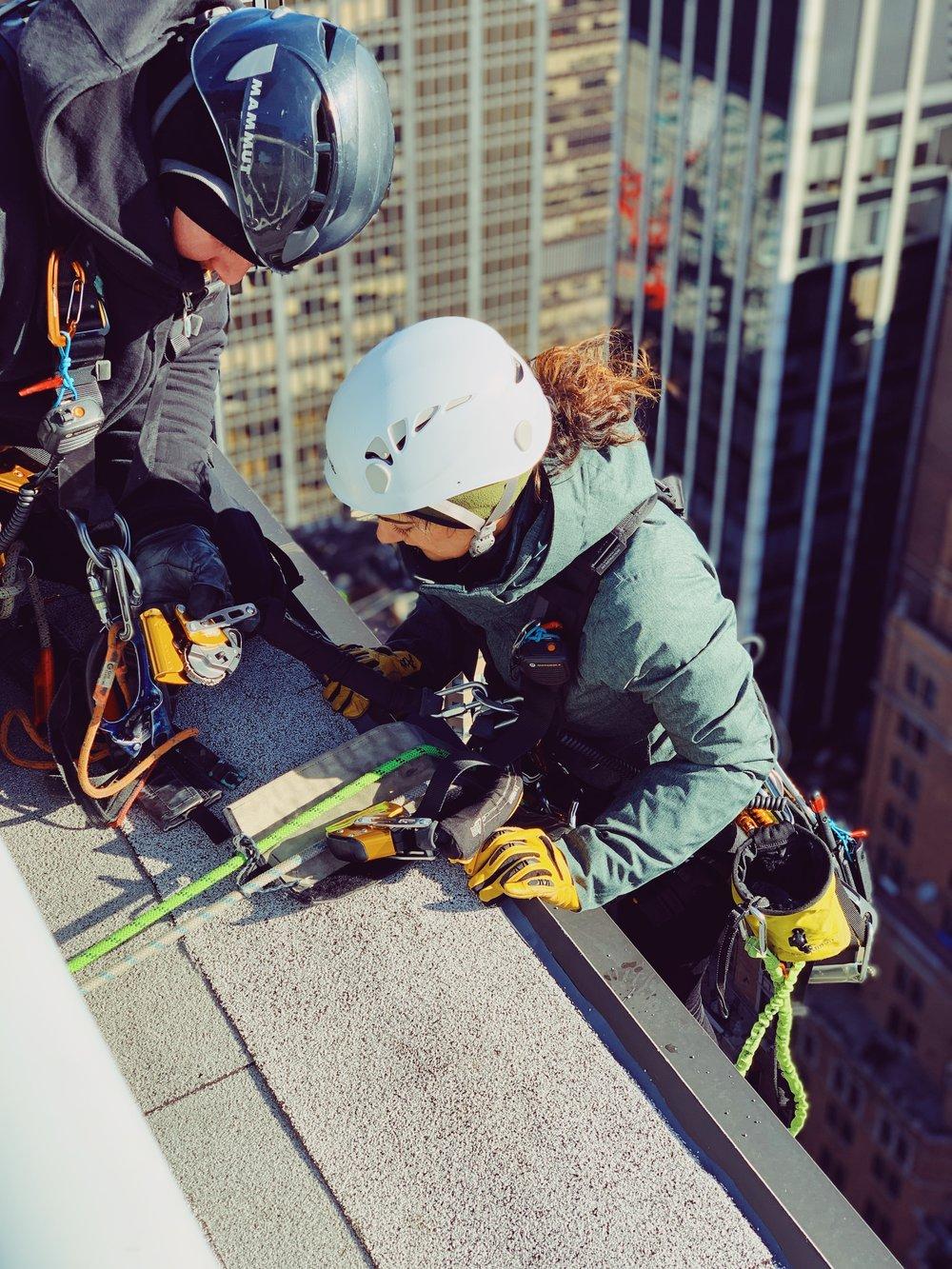Elyse on rope in Manhattan.