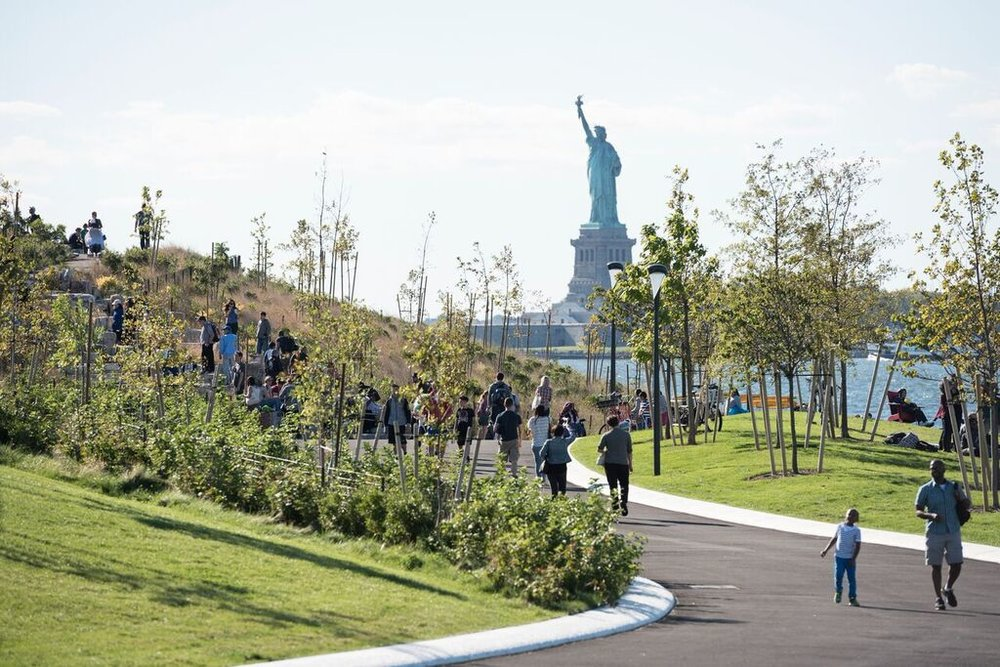 Image from The Design of Childhood; Slide   Hill, Governors Island, New York, 2016, WEST 8 with Mathews Nielsen Landscape  Architects.