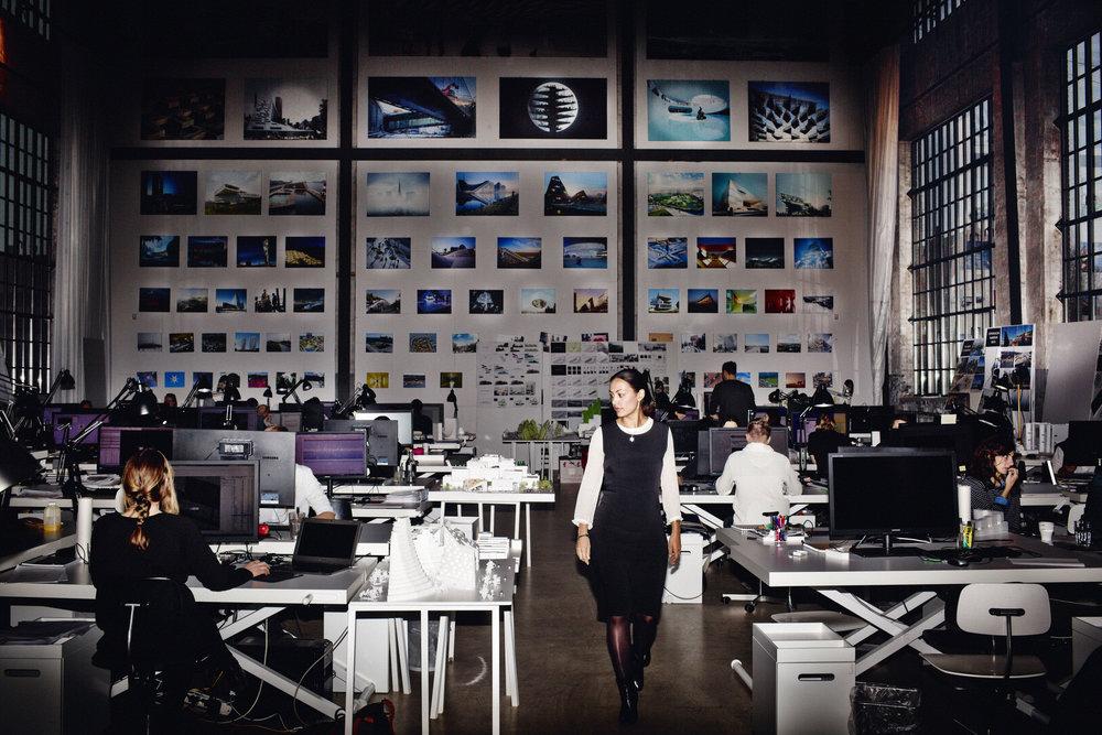 Sheela in BIG's Copenhagen office - photo by Flemming Leitorp.