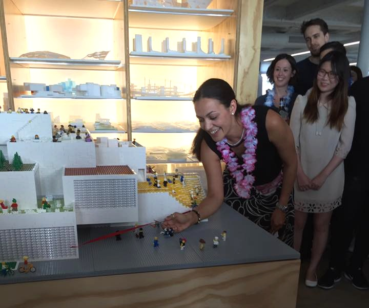 Ribbon-cutting Ceremony for the LEGO House model built of 200,000 LEGO bricks.